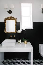 black and white bathroom design home makeover an interior designer u0027s glam black u0026 white denver home