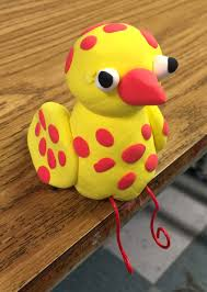sitting spotted bird bird model magic and clay projects