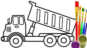 how to draw dump truck coloring pages kids learn colors for