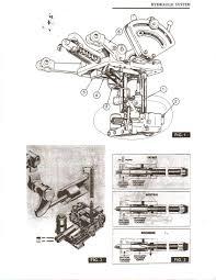 massey 165 desiel main hydraulic pump linkage in rear housing