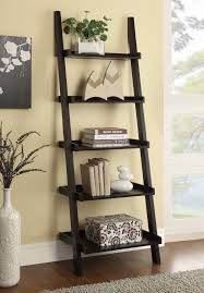 Ladder Bookcase White by Furniture Cool White Vase And Floral Arrangement By Ladder Bookshelf