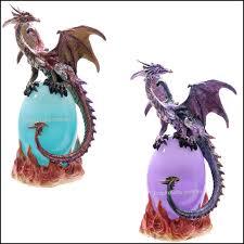 dragon ornament statue figurine dragon led lamp light purple