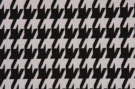 Black And White Drapery Fabric Prints Large Houndstooth Printed Cotton Drapery Fabric In Black White