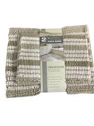 Spa Bathroom Rugs Town Country Living 2 Cushioned Spa Bath Rugs Set 21 34