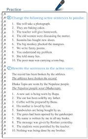 tense changes in the passive voice active voice passive voice 1