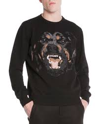 givenchy sweater givenchy rottweiler embroidered pullover sweater black