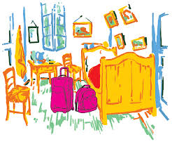 airbnb reviews of vincent s bedroom f newsmagazine illustration by alex kostiw