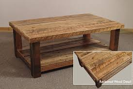 Barn Board Coffee Table Reclaimed Barn Wood Rustic Big Timber Coffee Table