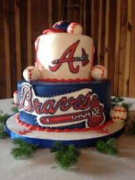Decorative Cakes Atlanta Atlanta Braves Cake By Www Freshbakedva Com Roanoke Va Cakes