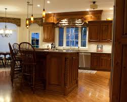 rustic cherry kitchen cabinets home design ideas