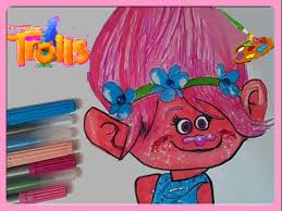 trolls movie coloring book poppy colouring pages kids learn
