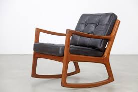 Rocking Chair Teak Wood Rocking Vintage Teak Rocking Chair With Leather By Ole Wanscher For France