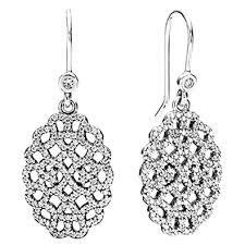 earring dangles pandora earring dangles shimmering lace clear cubic