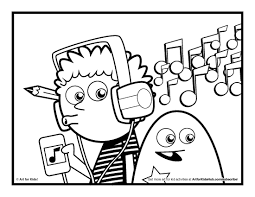 music coloring pages for children