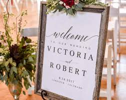 wedding welcome sign template welcome wedding sign etsy