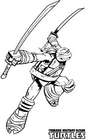 leonardo ninja turtle coloring free download