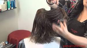 a layered hair cut triangle shape youtube