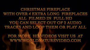 watch christmas fireplace with festive music or play with fire