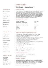 warehouse resume exles warehouse worker resume exle http www resumecareer info