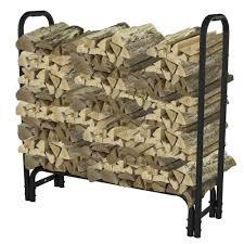 simple wood holder inside fireplace decor modern on cool