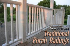 how to build porch railings u2014 stonehaven life