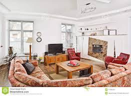 modern art deco style drawing room interior stock photo image