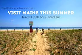 visit maine this summer for some great travel specials just for