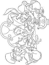 alice wonderland coloring pages download print alice