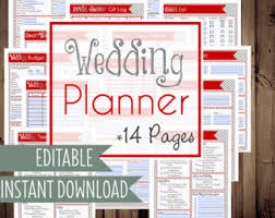 downloadable wedding planner wedding planner binder etsy