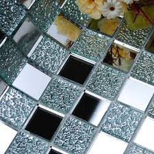 glass backsplash kitchen tile mosaic design art mirrored wall