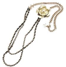 long necklace crystal images Chanel gunmetal faux pearl crystal leather removable camellia long jpg