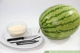 football cake how to make a watermelon football cake 8 steps with pictures