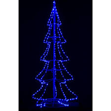 Outdoor Christmas Decorations Home Depot 8 Ft Pre Lit Led 3d Silhouette Tree With 300 Blue Lights