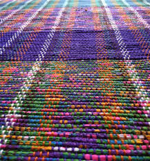Recycled Outdoor Rug by These Old School Rugs Are Woven Out Of Plastic Bags Earth911 Com