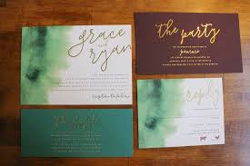 Gold Foil Wedding Invitations Burgundy Green Gold Foil Wedding Invitations Stock U0026 Stamp