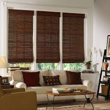 beautiful wooden window blinds bamboo material mahogahy finish
