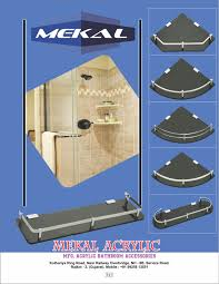 Acrylic Bathroom Accessories Quality Bathroom Accessories Manufacture In Rajkot Mekal Acrylic