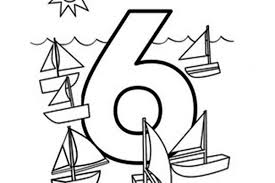learn number 6 with six boat coloring page learn number 6 with