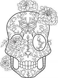 free sugar skull coloring thaneeya mcardle colouring