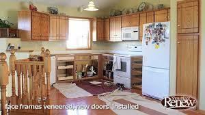 a full kitchen remodel in 2 1 2 days renew cabinet refacing makes