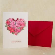 christmas greeting cards handmade paper heart design flowers xmas