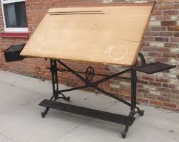 Antique Oak Drafting Table by Antique Adjustable Keuffel And Esser Cast Iron Drafting Table At