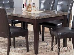 marble top dining table set danville 7 piece black marble top dining set in espresso finish by
