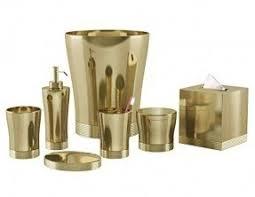 gold bath accessories foter