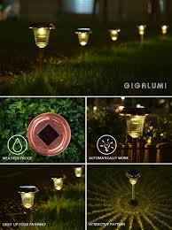 Solar Lights For The Garden Shop For Gigalumi Solar Path Lights Outdoor Waterproof Outdoor