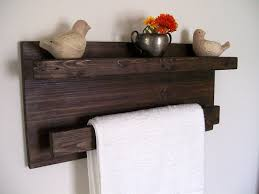 Bathroom Towel Shelf Bathroom Shelves Wood Shelf Towel Rack Towel Bar Floating