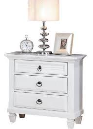 bedroom 30 inch tall white nightstand with clock and desk lamp