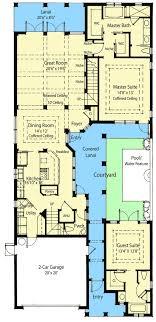courtyard house plan energy saving courtyard house plan 33047zr architectural designs