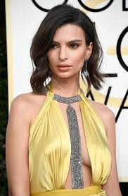 can we talk about emily ratajkowski u0027s new chop at the golden