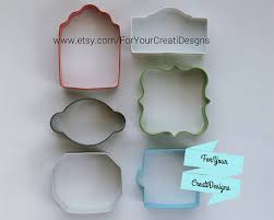 celebrate it cookie cutters frame plaque tag metal cookie cutters 6 pieces set by